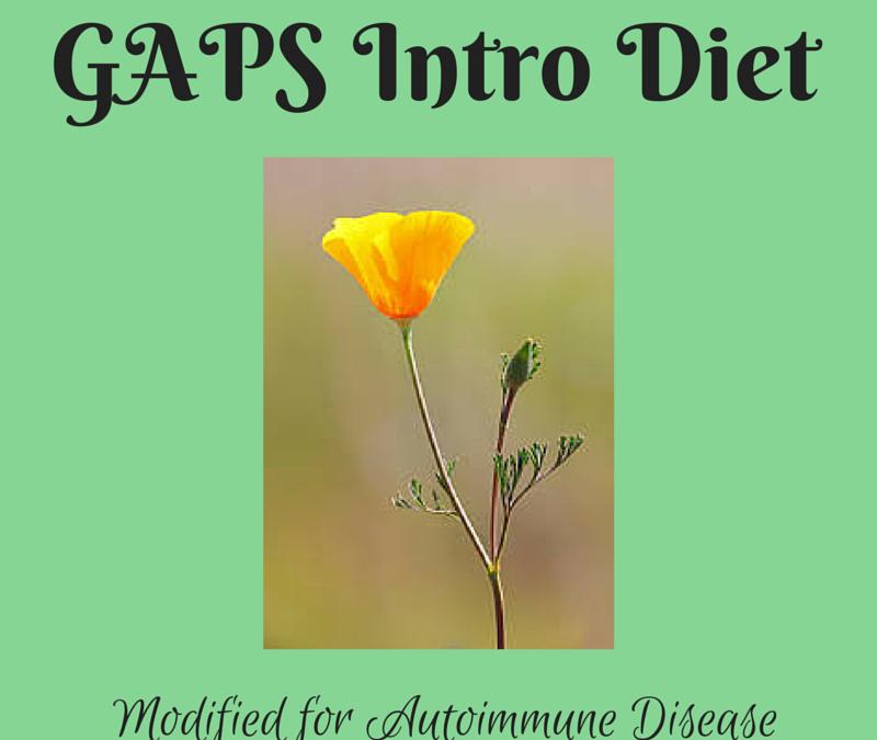 GAPS Intro Diet Modified for Autoimmune Disease